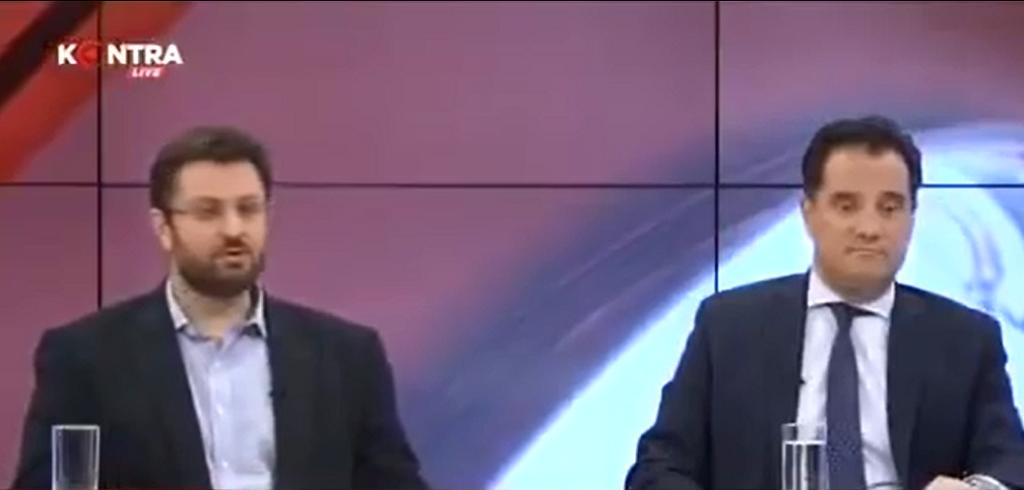 Τηλεοπτικό debate Κώστα Ζαχαριάδη με Άδωνι Γεωργιάδη.