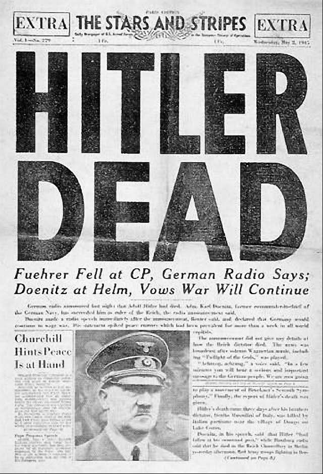 To post του Κ. Ζαχαριάδη για την επέτειο από την αυτοκτονία του Χίτλερ